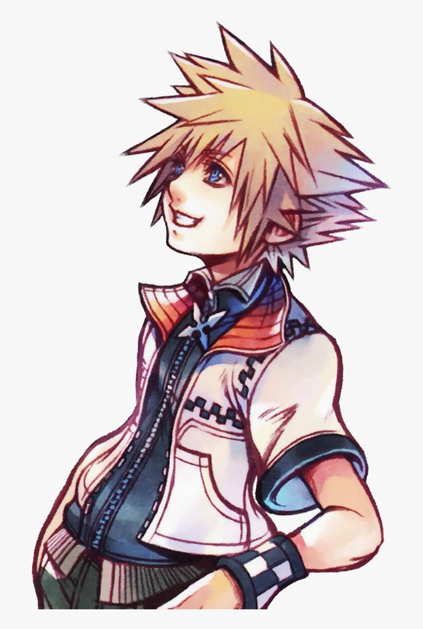 Kingdom Hearts Roxas Art, HD Png Download, Free Download