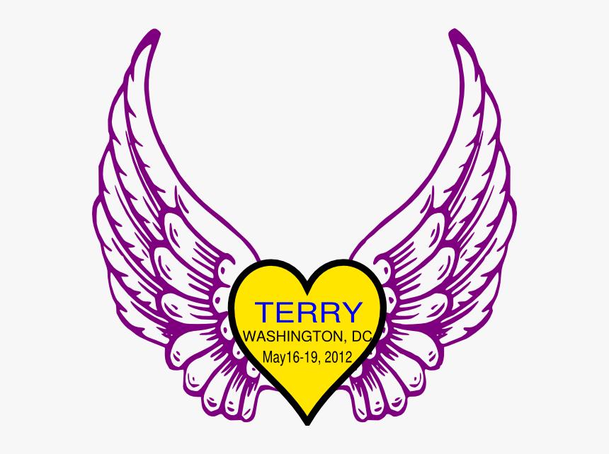 Wings N Heart Clip Art - Angel Wings Svg Free, HD Png Download, Free Download