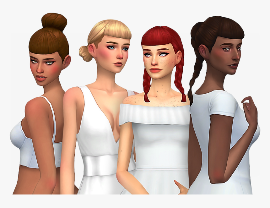 Downloads Nolan With Newest Sims 4 Maxis Match Bangs Hair Hd Png Download Kindpng