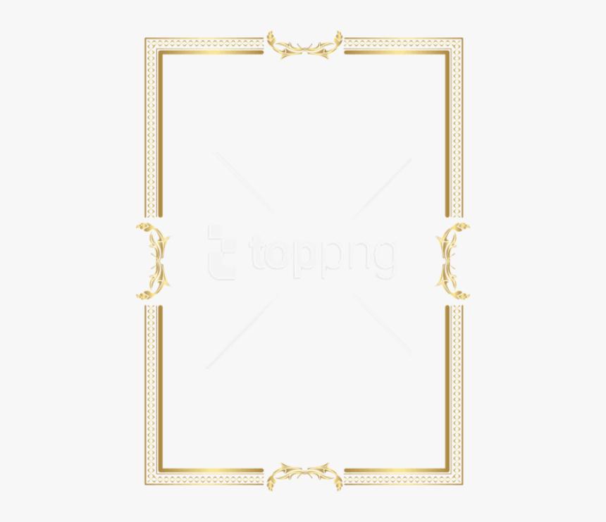 Golden Border Designs Png - Gold Border Frame Png, Transparent Png, Free Download