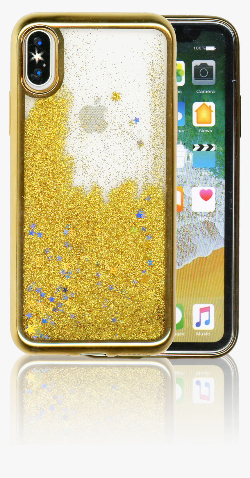 Iphone X/10/xs Mm Electroplated Water Glitter Case - Iphone X Water Case, HD Png Download, Free Download