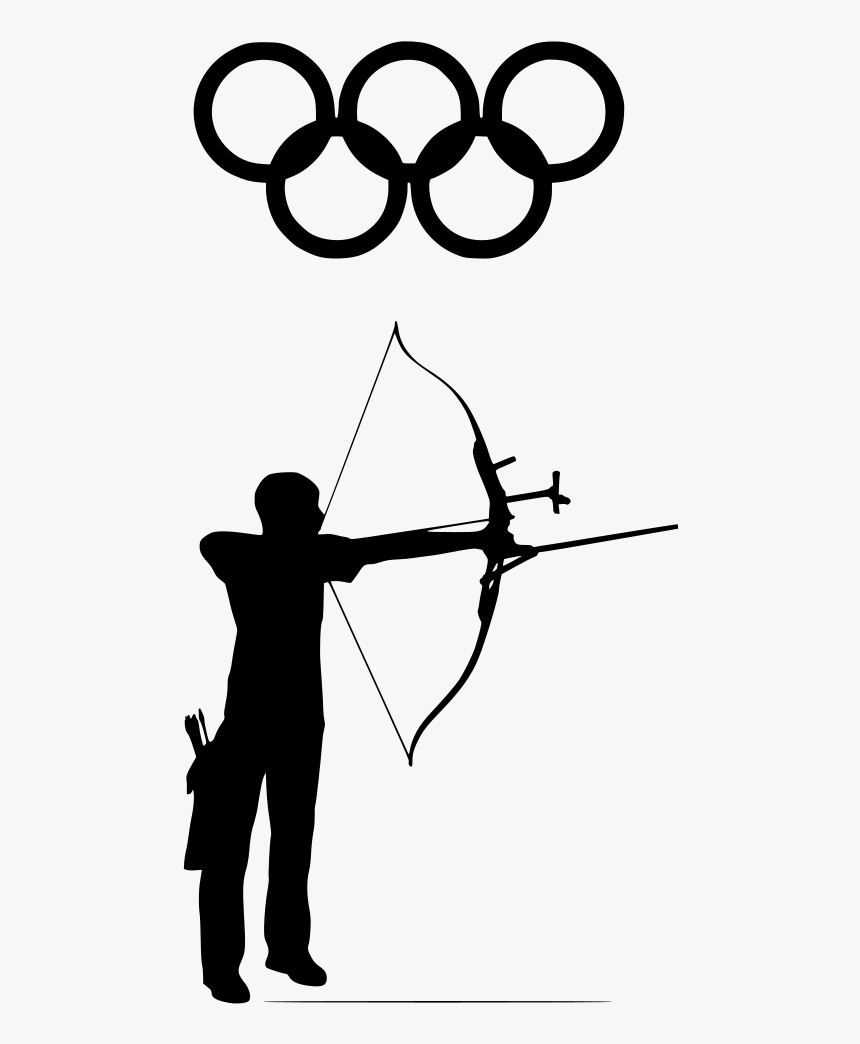 Black And White Archery Clipart, HD Png Download, Free Download