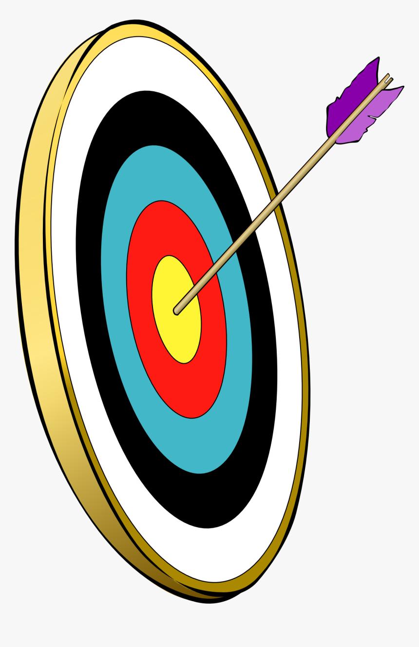 Target Archery Bow And Arrow Clip Art - Target And Arrow Clip Art, HD Png Download, Free Download