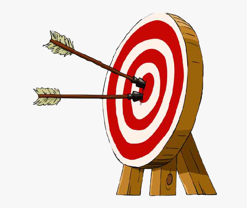 Transparent Archery Target Png - Bow And Arrow Target Drawing, Png Download, Free Download