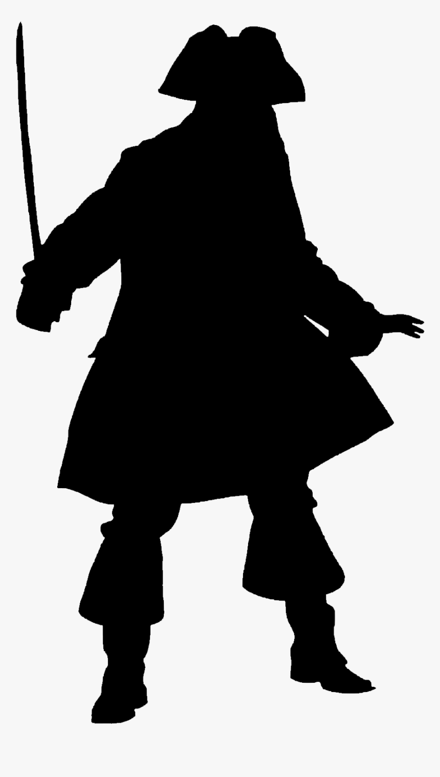 Transparent Sword Silhouette Png - Captain Jack Sparrow Costume, Png Download, Free Download
