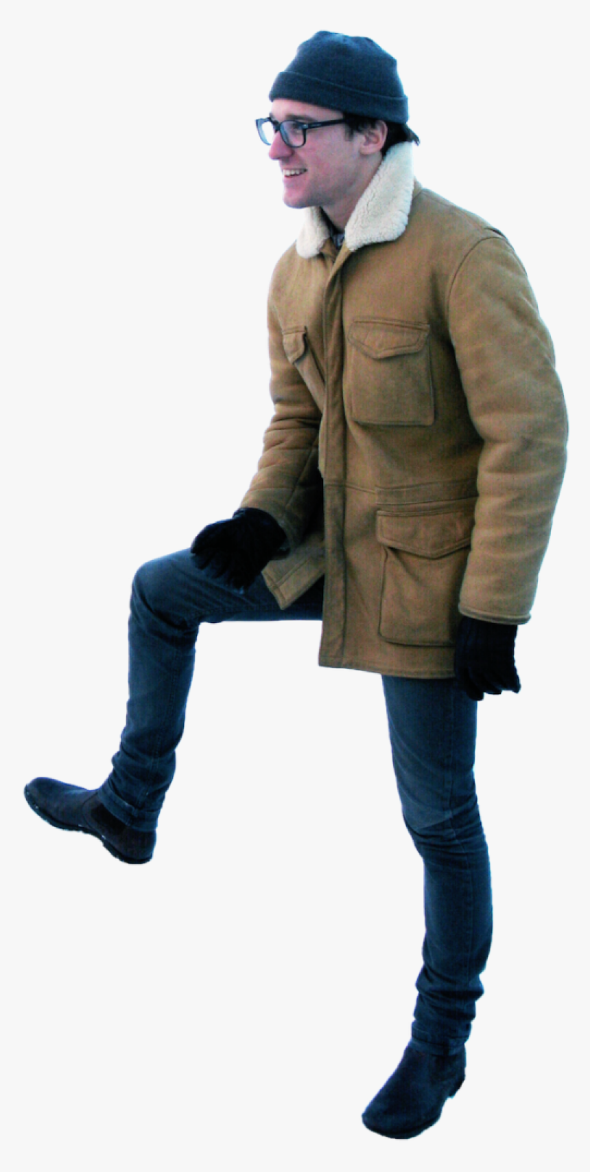 Standing Winter Png Image - Winter People Cut Out, Transparent Png, Free Download