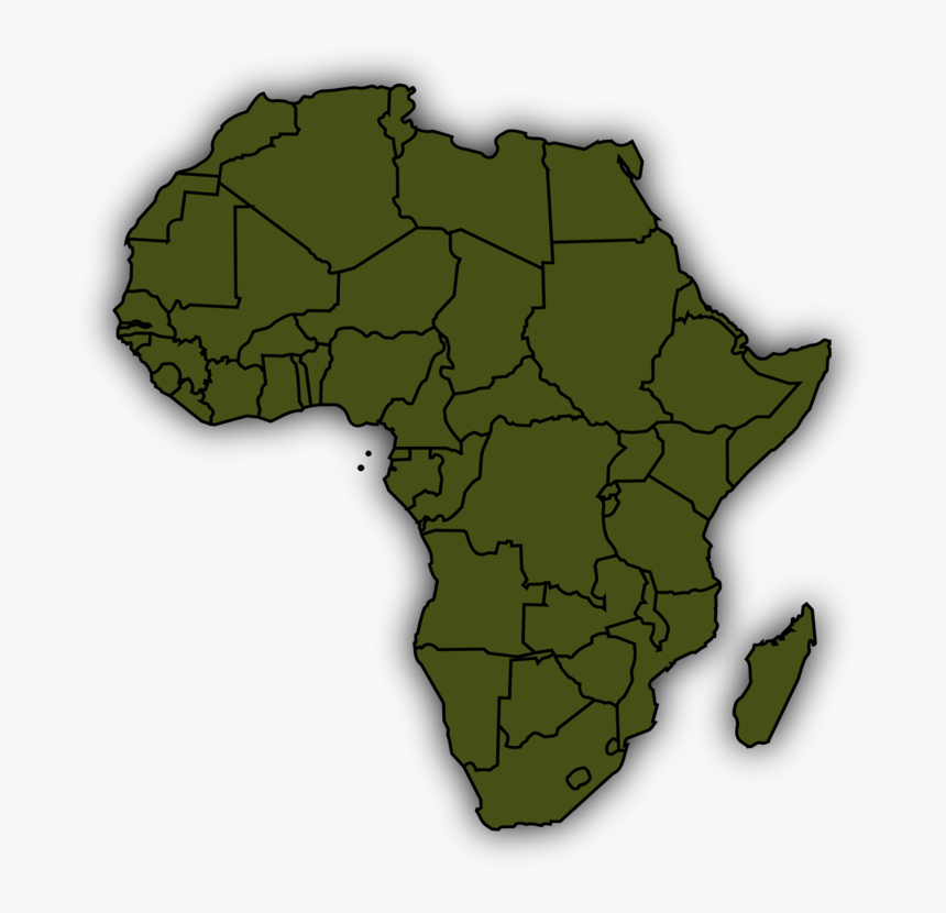 Africa World Map Globe Vector Map - Africa Map Clipart, HD Png Download, Free Download