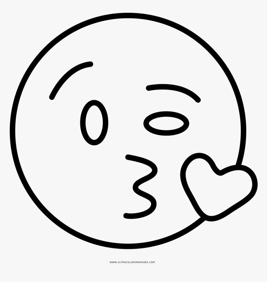 Kiss Emoji Coloring Page Hd Png Download Kindpng