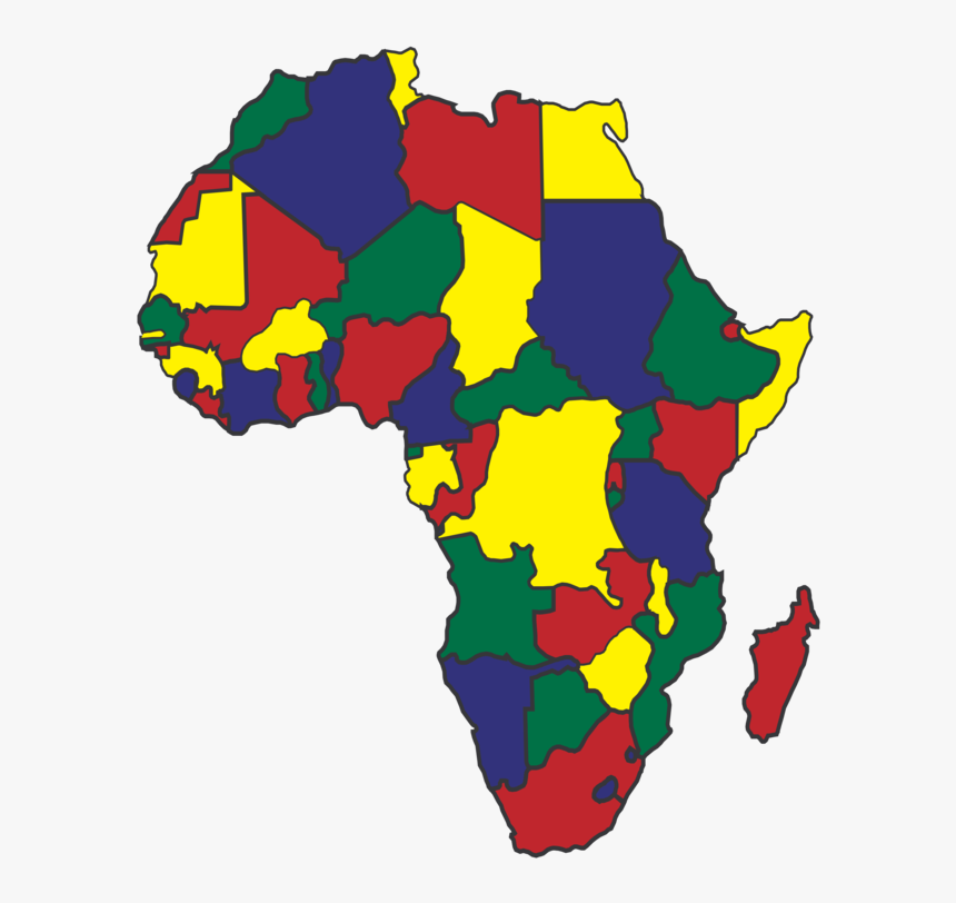 Area,africa,map - Africa Map Solid Color, HD Png Download, Free Download