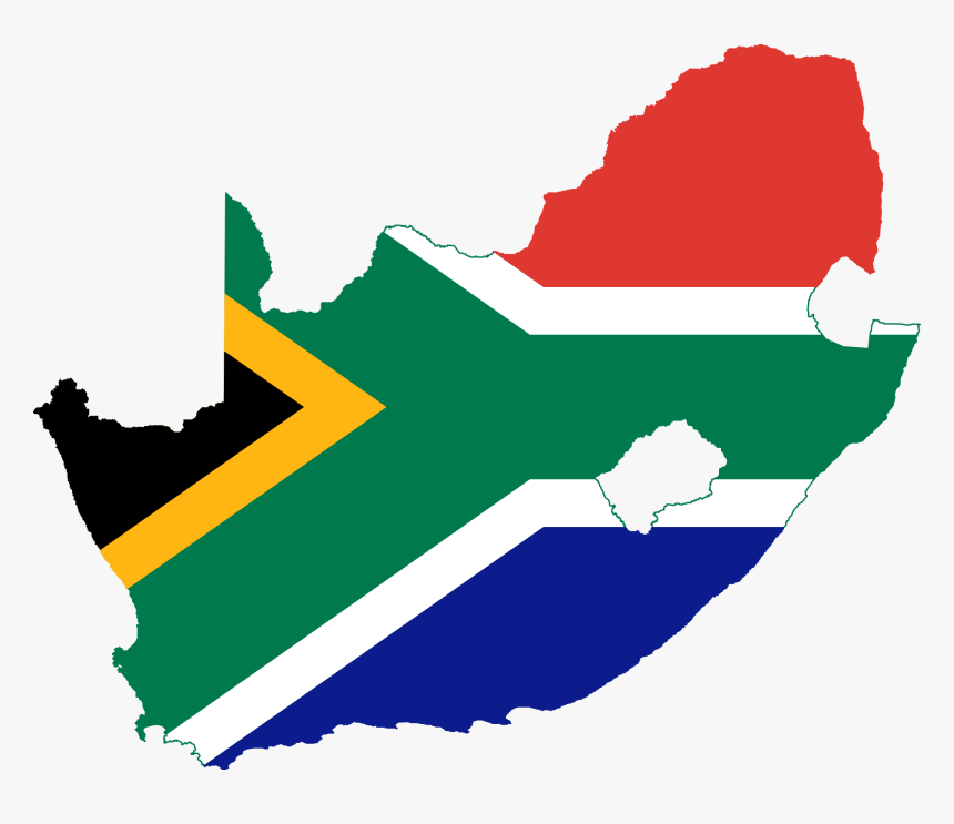 Image Black And White Africa Clipart Simple - South Africa Flag Map, HD Png Download, Free Download