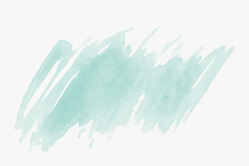 Light Green Watercolor Brush Stroke - Watercolor Brush Strokes Png, Transparent Png, Free Download