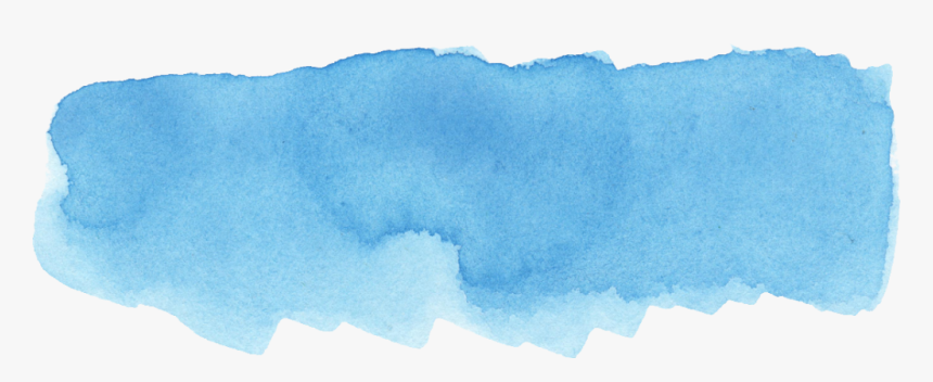 Blue Paint Stroke Png - Watercolor Brush Blue Png, Transparent Png, Free Download