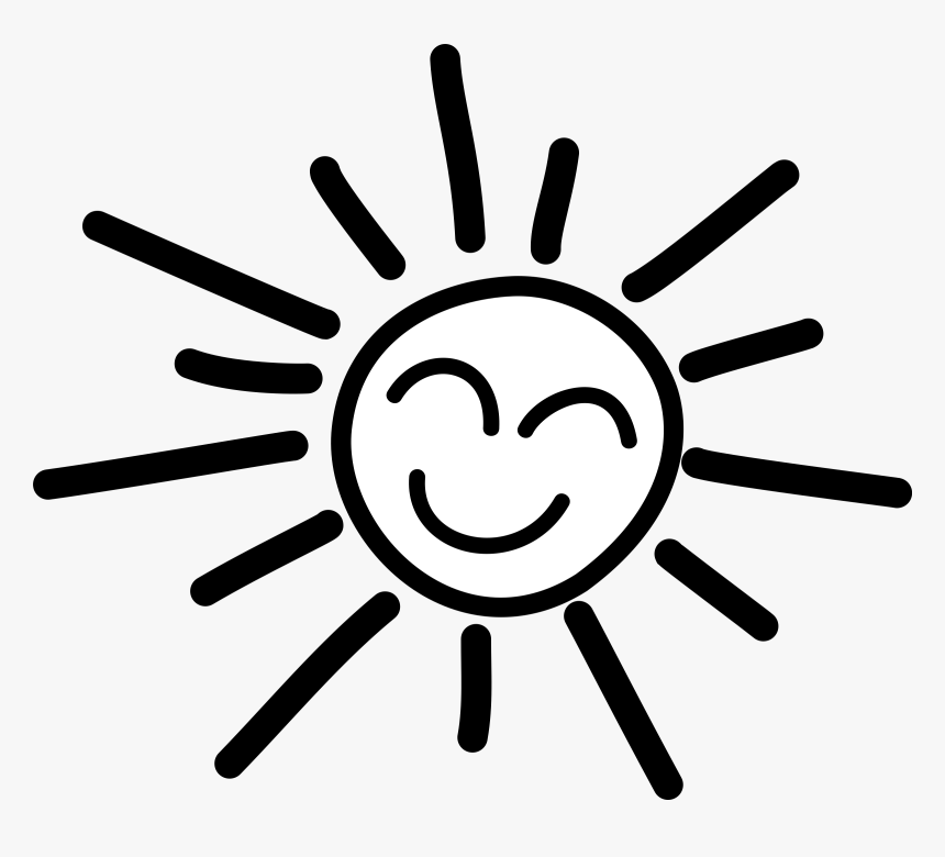 Sun Banner Black And White Library Rr Collections Png Sunshine