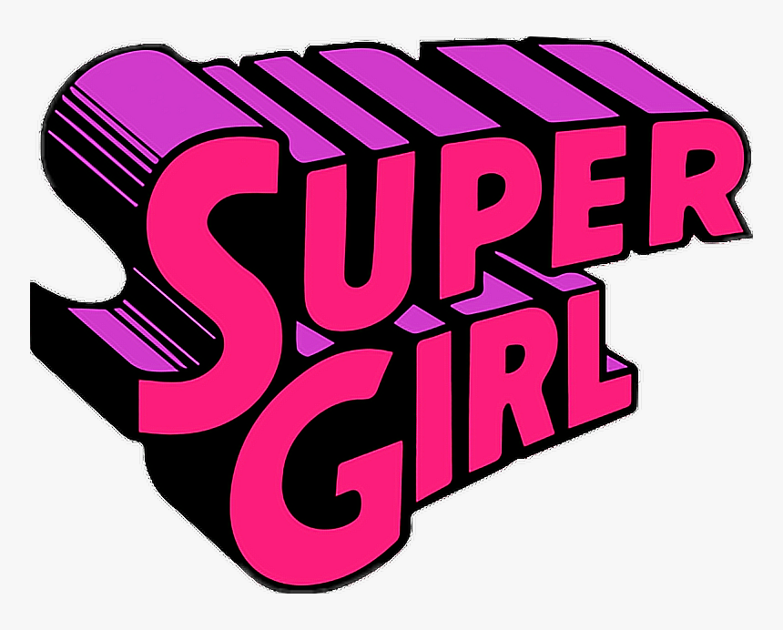 Tumblr Cute Supergirl Girl Png Clipart Collage Stickers - Stickers Tumblr Png Gif, Transparent Png, Free Download
