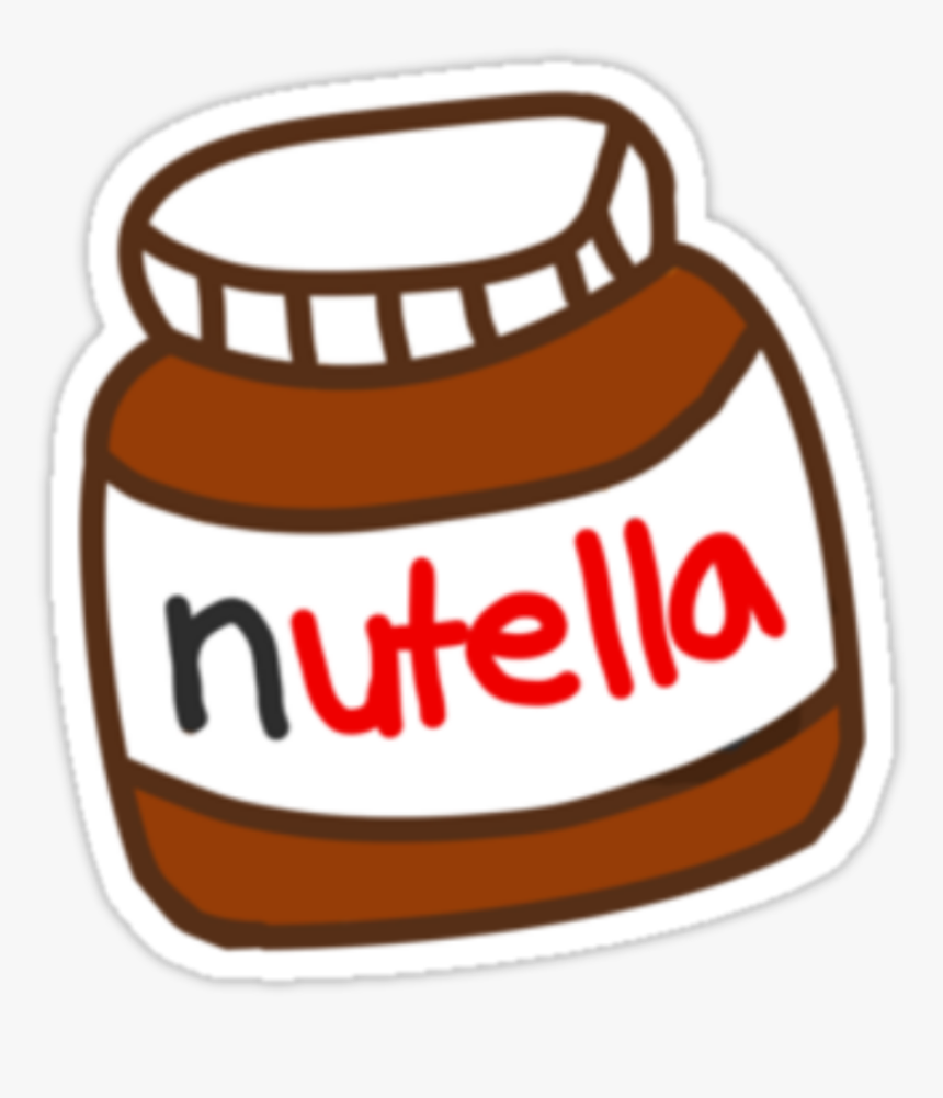 Nutella Tumblr Stickers Of Nutella, HD Png Download, Free Download