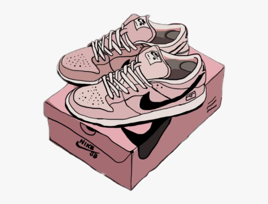 Tumblr Sticker By Alena - Nike Shoe Box Drawing, HD Png Download, Free Download
