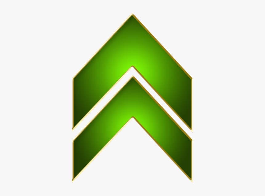 Double Arrow Green Up - Up Arrow Gold Png, Transparent Png, Free Download
