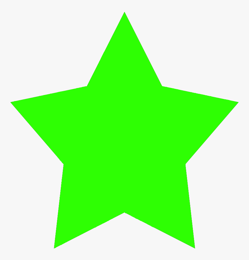 Simple Star Graphic, Green Star Image - Colored Star Clip Art, HD Png Download, Free Download
