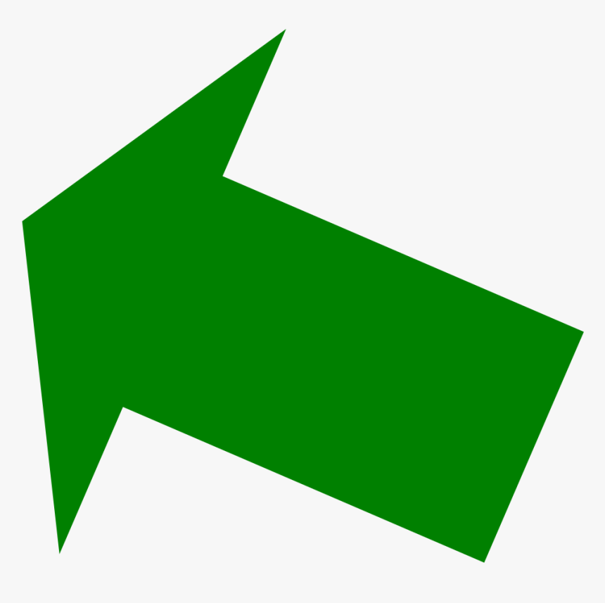 Green Up Right Arrow Png - Dark Green Arrow Pointing Up, Transparent Png, Free Download