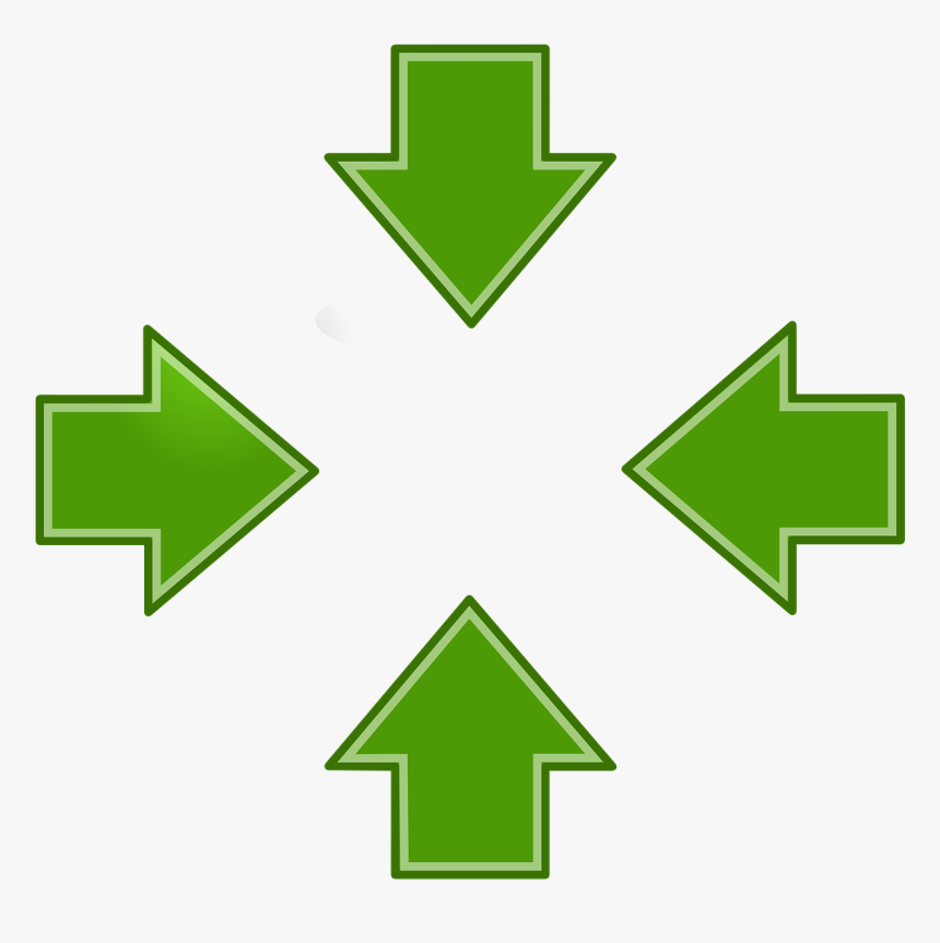 4 Arrows Pointing Inwards Logo, HD Png Download, Free Download