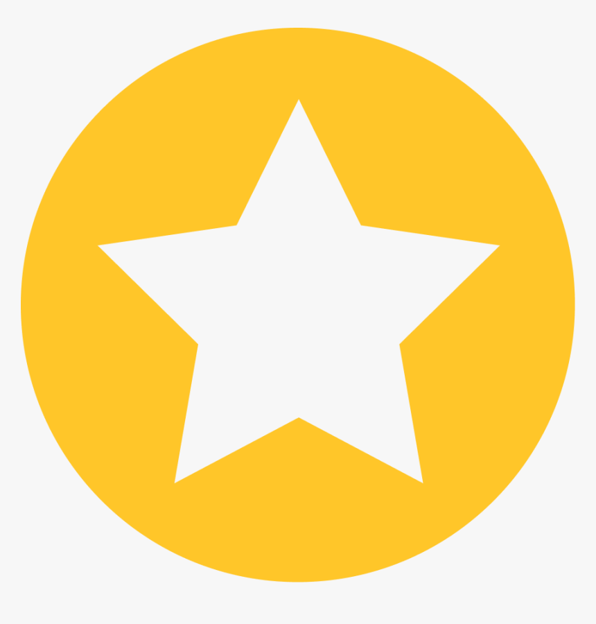 Transparent Gold Star Png - Circle Star Icon, Png Download, Free Download