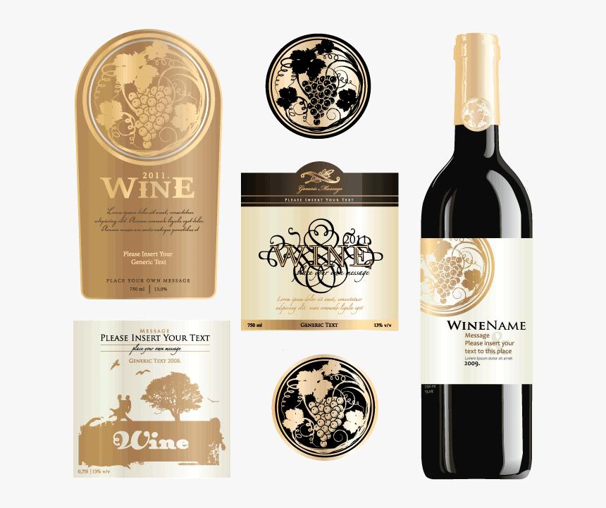 Wine Labels - Winery Label Png Vintage, Transparent Png, Free Download