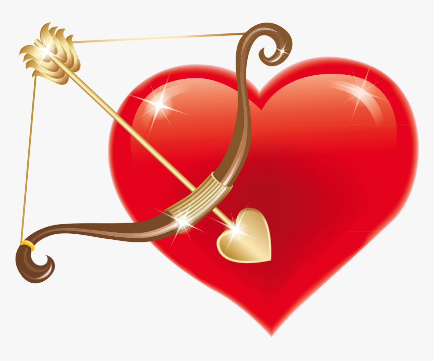 Small Red Heart Png Images & Pictures - Pink Cupid's Bow And Arrow, Transparent Png, Free Download