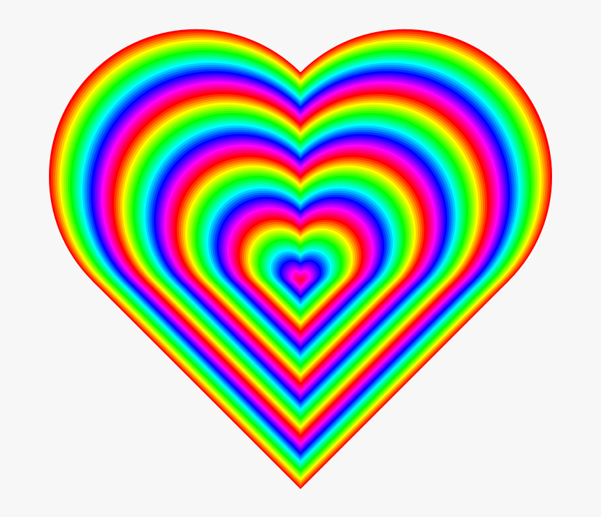 Love Rainbow Heart Emoji, HD Png Download, Free Download