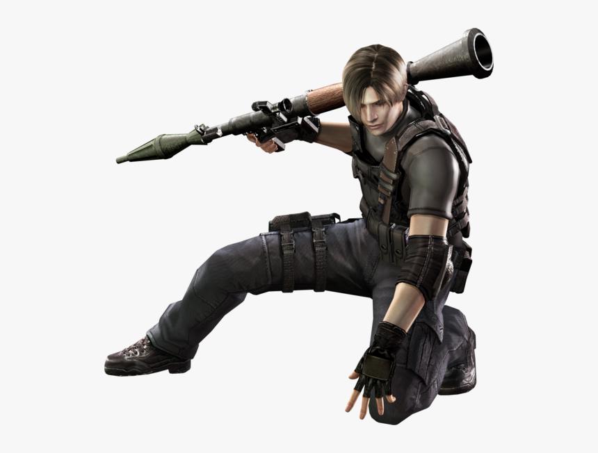 Resident Evil 4 Leon Hd Png Download Kindpng