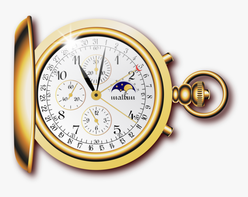 Transparent Pocketwatch Clipart - Gold Pocket Watch Png, Png Download, Free Download