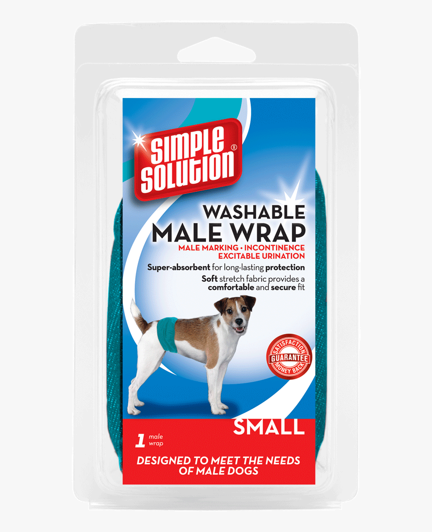Simple Solution Washable Male Wrap Dog Wrap Belly Bands - Skvättskydd Hund, HD Png Download, Free Download