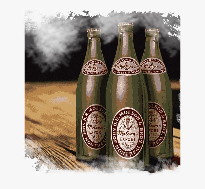 Transparent Bottle Of Poison Clipart - Vintage Quart Bottle Of Molson Ale 1950's, HD Png Download, Free Download