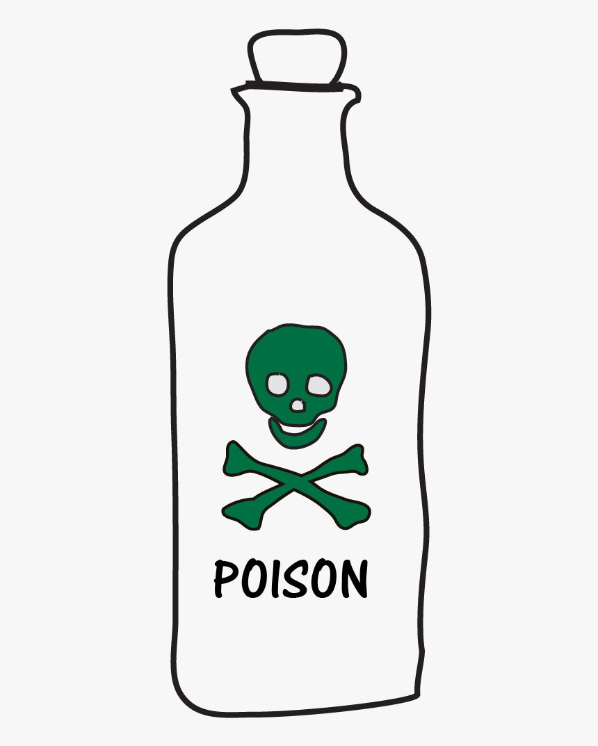 Easy Poison Bottle Drawings, HD Png Download, Free Download