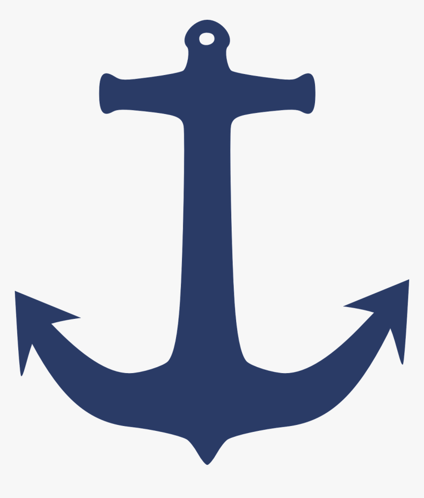 Anchor Clip Art - Navy Blue Anchor Clipart, HD Png Download, Free Download