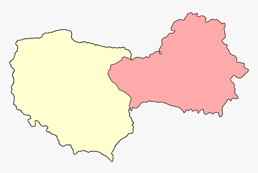 Borders Of Poland And Belarus Before August 1945 - Green Belarus Map, HD  Png Download - kindpng