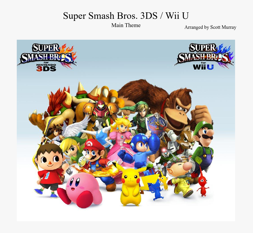 Super Smash Bros - Cartoon, HD Png Download, Free Download
