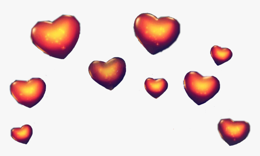 Snapchat Hearts Png - Snapchat Heart Crown Filter Png Transparent, Png Download, Free Download
