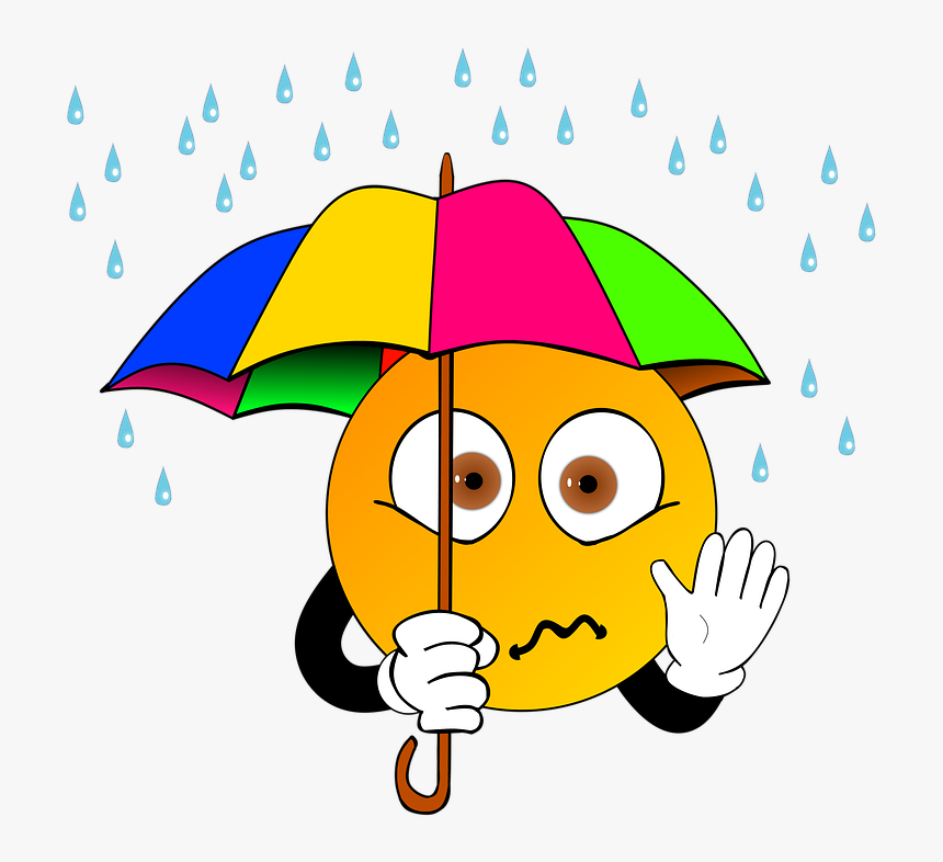 Umbrella, Storm, Screen, Rain, Clip Art, Drip, Samuel - Cartoon, HD Png Download, Free Download