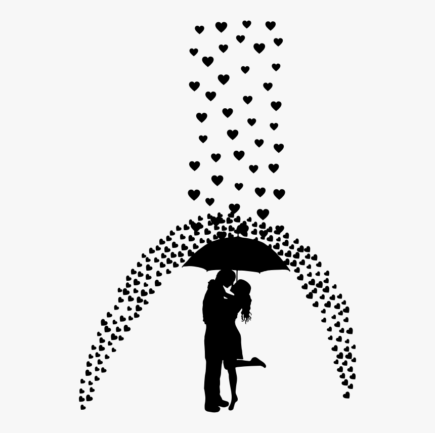 Love Rain - Girl And Boy With Umbrella, HD Png Download, Free Download