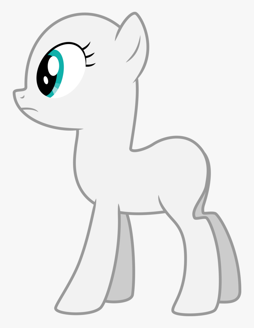 Drawing Ponies Eye - Mlp Fim Earth Pony Base, HD Png Download, Free Download