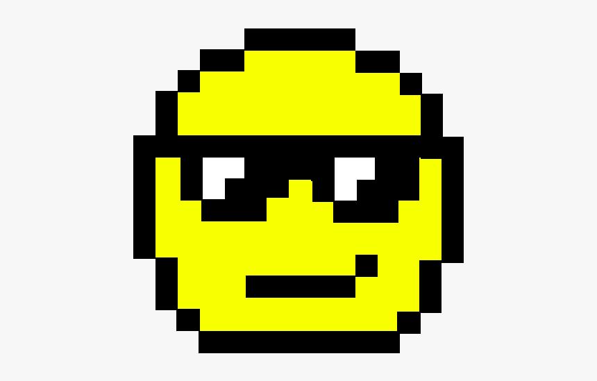 Sunglasses Emoji Pixel Art, HD Png Download, Free Download