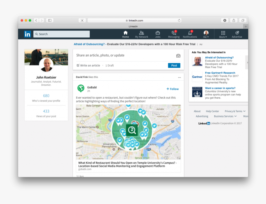 Mobile Screenshot Of Linkedin, HD Png Download, Free Download