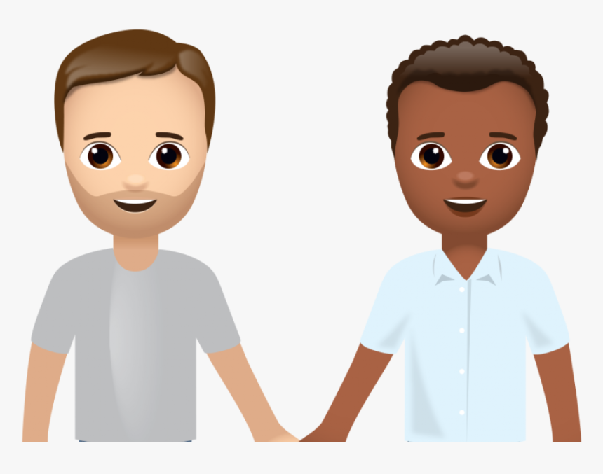 Interracial Emoji Love Wins After Global Campaign By - 2 Interracial Boys Holding Hands Emojis, HD Png Download, Free Download