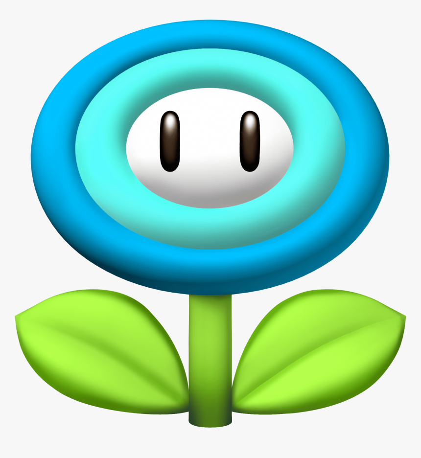 Mario Fire Flower Clipart , Png Download - Super Mario Blue Flower, Transparent Png, Free Download