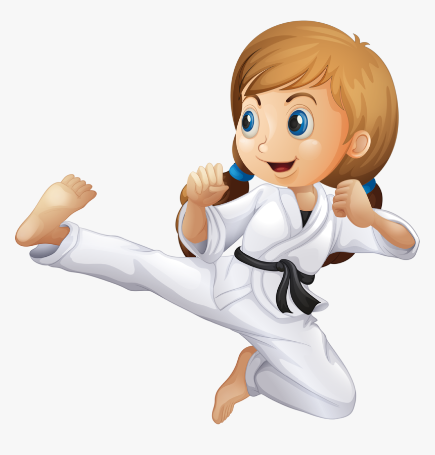 Girl Clipart Martial Arts Kid Karate Clipart Hd Png Download Kindpng