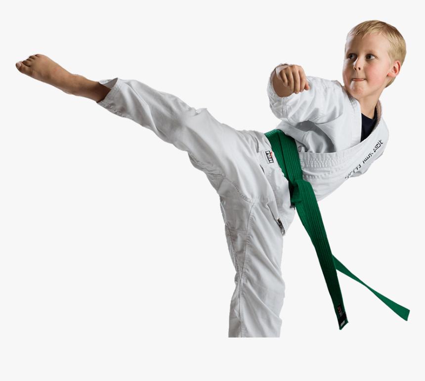 Kid Practicing Karate Kick - Taekwondo, HD Png Download, Free Download