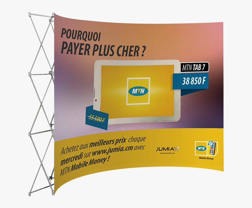 Banner Walls Curved - Mtn Group, HD Png Download, Free Download