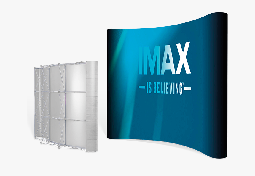 Curved Banner Png - Double Sided Curved Banner Wall, Transparent Png, Free Download