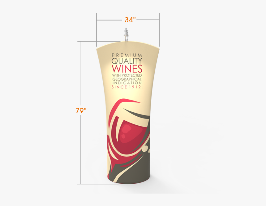Curved Top Tension Fabric Banner Stand - Cosmetics, HD Png Download, Free Download