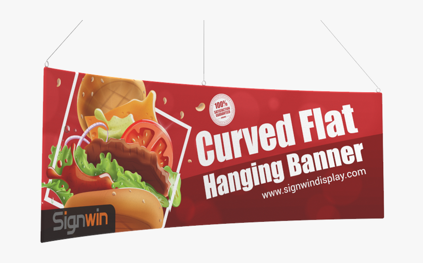 Curved Flat Hanging Banner Custom Printing For Conventions - Banner, HD Png Download, Free Download